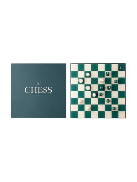 Schachspiel Classic, Papier, Acryl, Beige, Grün, 25 x 5 cm