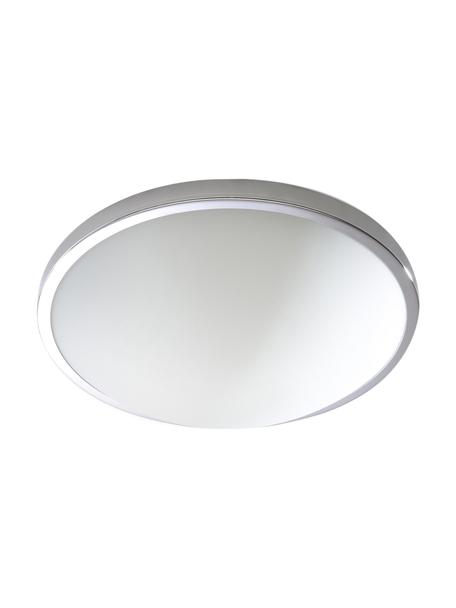 Kleine plafondlamp Calisto, Diffuser: glas, Chroomkleurig, wit, Ø 31 x H 9 cm