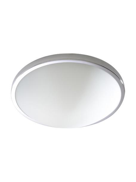Plafoniera piccola Calisto, Cornice: acciaio, Disco diffusore: vetro, Cromo, bianco, Ø 31 x Alt. 9 cm