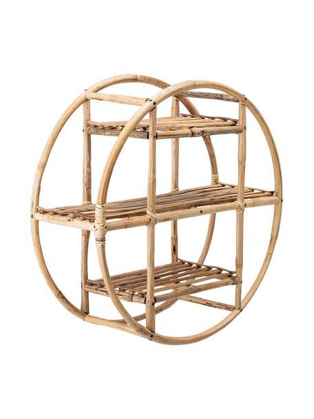 Okrągła półka ścienna z drewna bambusowego Sia, Trzcina, Brązowy, Ø 52 x G 20 cm