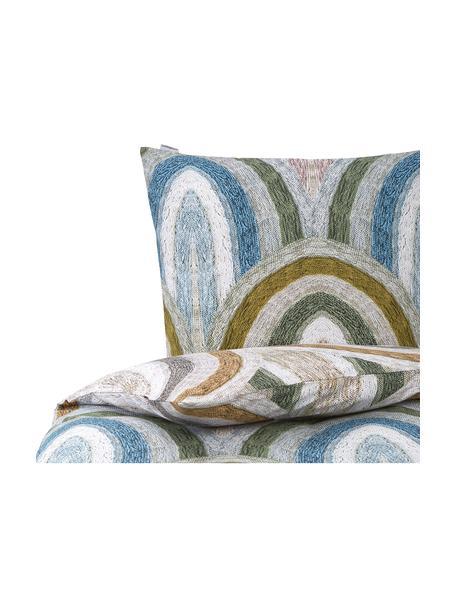 Pościel z bawełny Rainbow Brights, Wielobarwny, 135 x 200 cm + 1 poduszka 80 x 80 cm