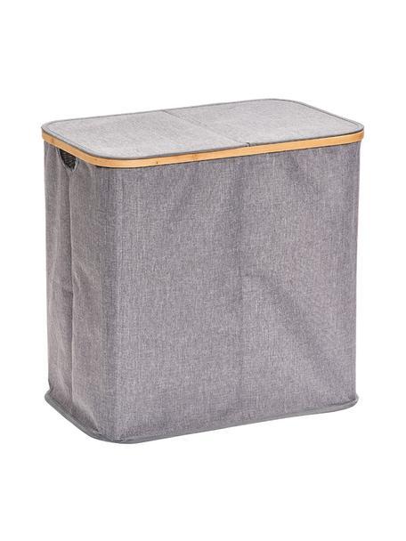 Wasmand Appa, Mand: 100% polyester, Frame: bamboe, Grijs, beige, 54 x 51 cm