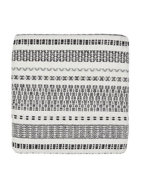 Poduszka na siedzisko z tworzywa sztucznego z recyklingu Faroe, Tworzywo sztuczne PET z recyklingu, Biały, czarny, S 40 x D 40 cm