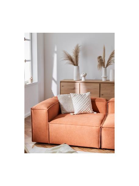 Poszewka na poduszkę z wypukłym wzorem o chwostami Royal, 100% bawełna, Złamana biel, S 45 x D 45 cm