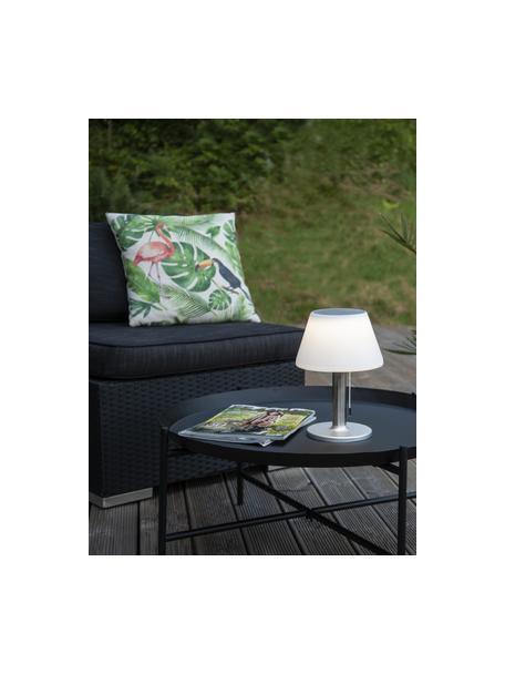 Lámpara de mesa solar para exterior Solia, Pantalla: plástico, Blanco, acero, Ø 20 x Al 28 cm