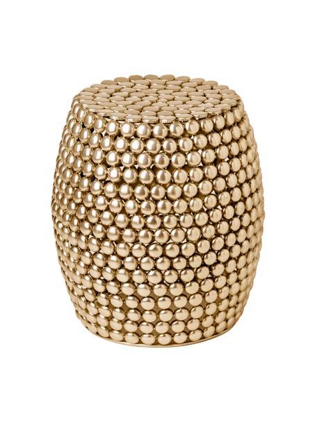 Stolik pomocniczy/stołek z metalu Luca, Metal, Odcienie złotego, Ø 41 x W 46 cm