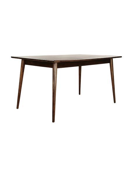 Stół do jadalni z drewna mangowego Oscar, Lite drewno mangowe, lakierowane, Ciemnybrązowy, S 150 x G 90 cm