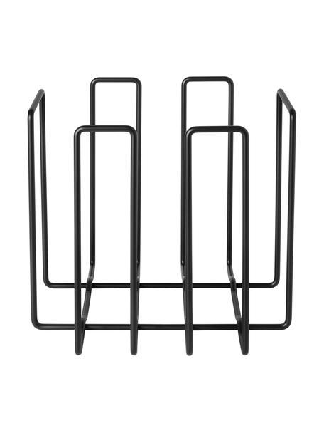 Tijdschriftenhouder Wires, Metaalkleurig, Zwart, 34 x 31 cm