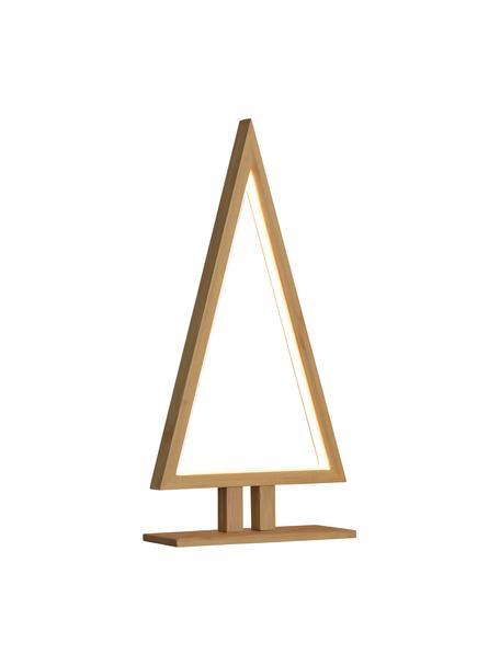 LED lichtobject Pine H 38 cm, met stekker, Diffuser: kunststof, Bamboekleurig, 20 x 38 cm