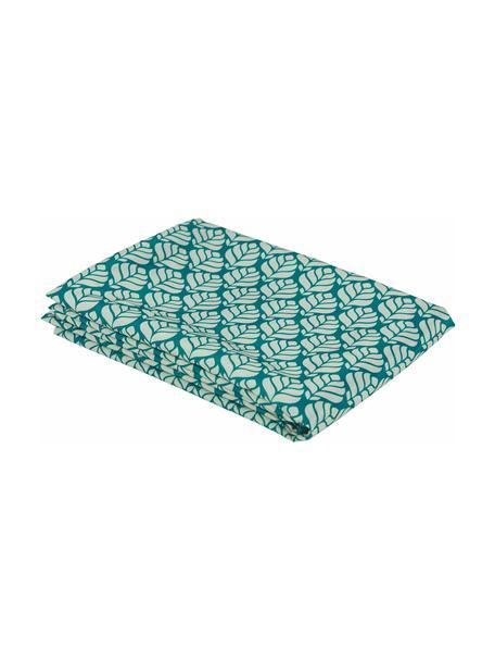 Tovaglia Bali Leaf, 100% poliestere, Tonalità blu, Per 4-6 persone (Larg.140 x Lung. 180 cm)