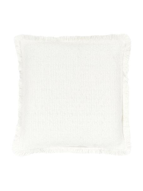Funda de cojín Lorel, 100%algodón, Blanco, An 40 x L 40 cm
