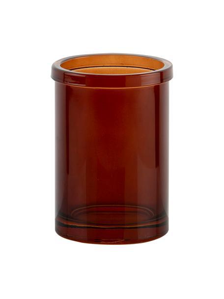 Zahnputzbecher Dorsey, Glas, Braun, Ø 7 x H 11 cm