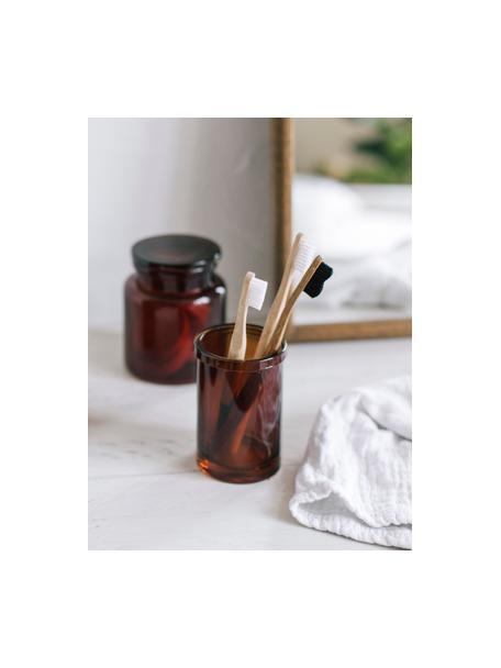 Vaso cepillo de dientes Dorsey, Vidrio, Marrón, Ø 7 x Al 11 cm