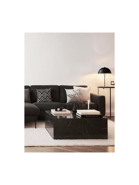 Gebreide dubbelzijdige kussenhoes Chuck met grafisch patroon in zwart/wit, 100% katoen, Zwart, crèmewit, 40 x 40 cm