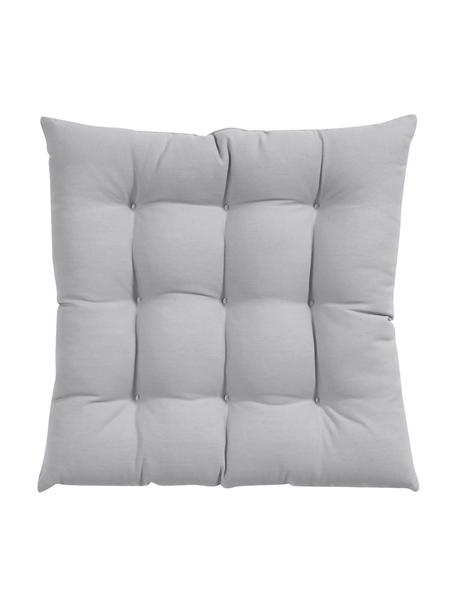 Cojín de asiento Ava, Funda: 100%algodón, Gris claro, An 40 x L 40 cm