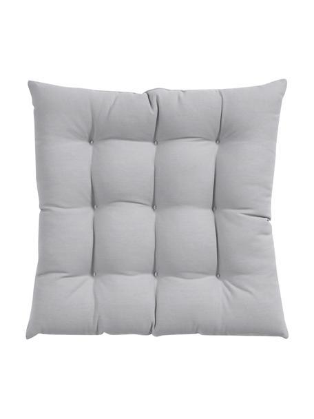 Cuscino sedia grigio chiaro Ava, Rivestimento: 100% cotone, Grigio chiaro, Larg. 40 x Lung. 40 cm