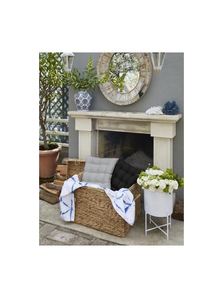 Sitzkissen Ava in Hellgrau, Bezug: 100% Baumwolle, Hellgrau, 40 x 40 cm