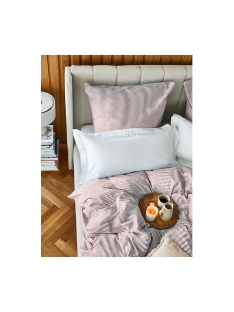 Pościel z bawełny Ellie, Biały, czerwony, 135 x 200 cm + 1 poduszka 80 x 80 cm