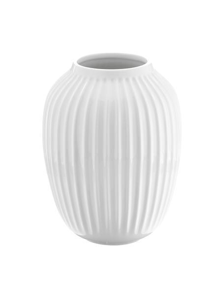Ręcznie wykonany wazon Hammershøi, Porcelana, Biały, Ø 20 x W 25 cm
