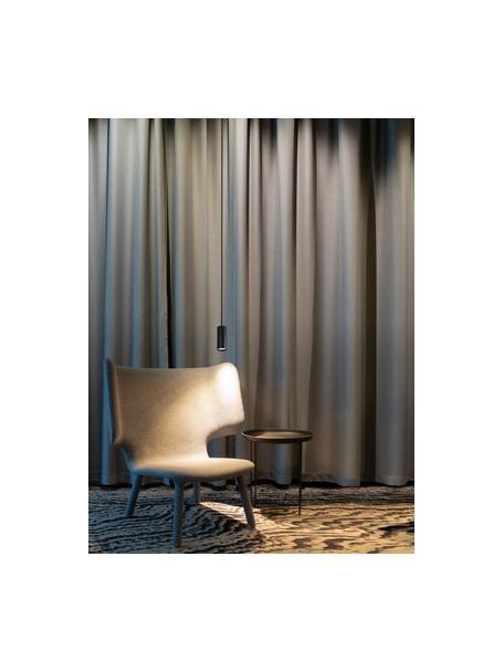 Kleine moderne hanglamp Aila, Lampenkap: gecoat aluminium, Baldakijn: gecoat aluminium, Zwart, Ø 6  x H 20 cm