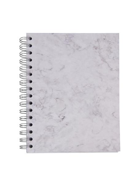 Notatnik Bürli, Biały, marmurowy, S 16 x W 21 cm