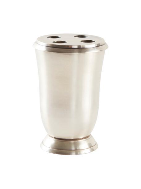 Zahnputzbecher Zoe, Metall, Silberfarben, Ø 9 x H 13 cm