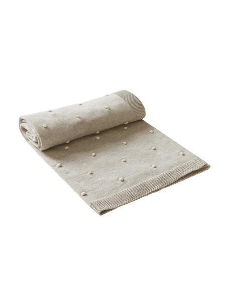 Plaid Alessia, 100% biokatoen, Beige, 80 x 100 cm