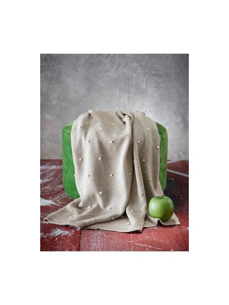 Manta Alessia, 100%algodón ecológico, Beige, An 80 x L 100 cm