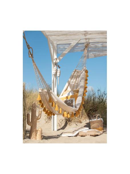 Hamaca con flecos Quast, Algodón, lino, poliéster, Crema, ocre, An 228 x Al 335 cm