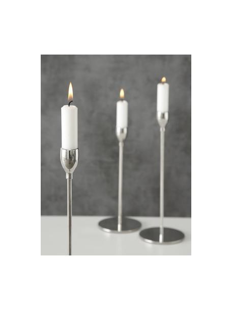 Set de candelabro Malte, 3pzas., Metal, Metal, Set de diferentes tamaños