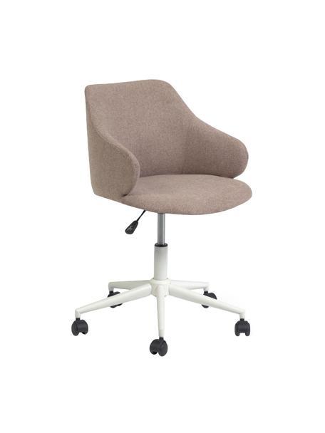 Biurowe krzesło obrotowe Einara, Tapicerka: poliester, Stelaż: stal, powlekany, Blady różowy, biały, S 64 x G 64 cm
