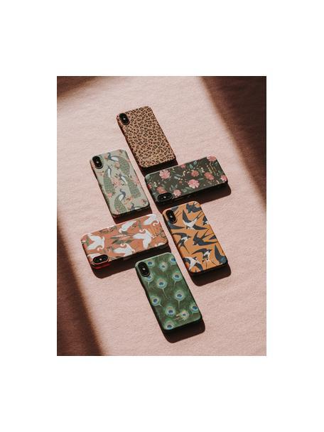 Telefoonhoesje Swallow voor iPhone X, Siliconen, Oranje, blauw, beige, 7 x 15 cm