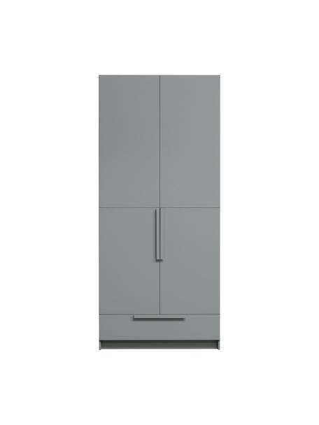 Armadio grigio Pure, Legno di pino rivestito, Grigio, Larg. 95 x Alt. 215 cm