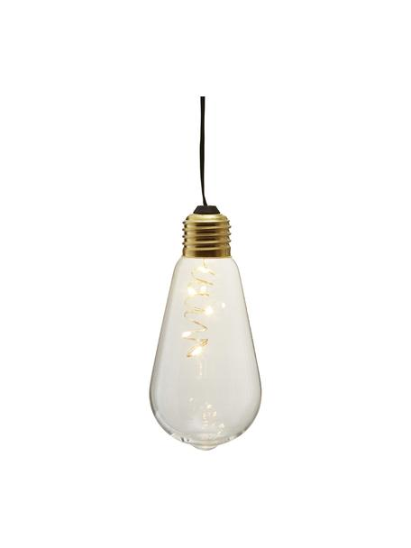Decoratieve LED lampen Glow, 2 stuks, Lampenkap: glas, Fitting: gecoat metaal, Transparant, Ø 6 x H 13 cm