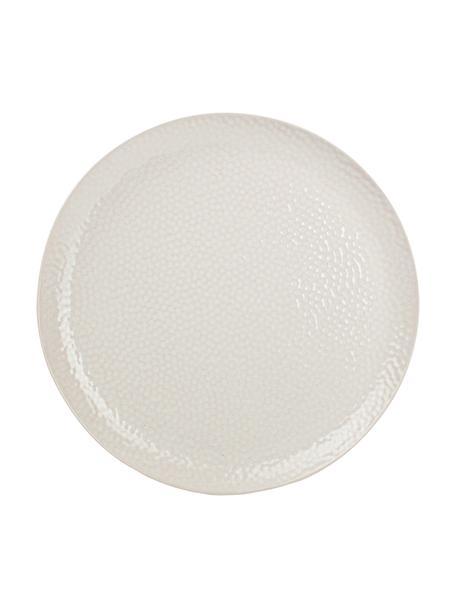 Frühstücksteller Mielo mit strukturierter Oberfläche, 4 Stück, Steingut, Weiß, Ø 21 cm
