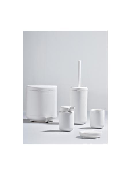 Afvalemmer Ume met pedaal functie, Kunststof (ABS), Mat wit, Ø 20 x H 22 cm