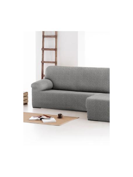 Pokrowiec na sofę narożną Roc, 55% poliester, 35% bawełna, 10% elastomer, Szary, S 360 x G 180 cm