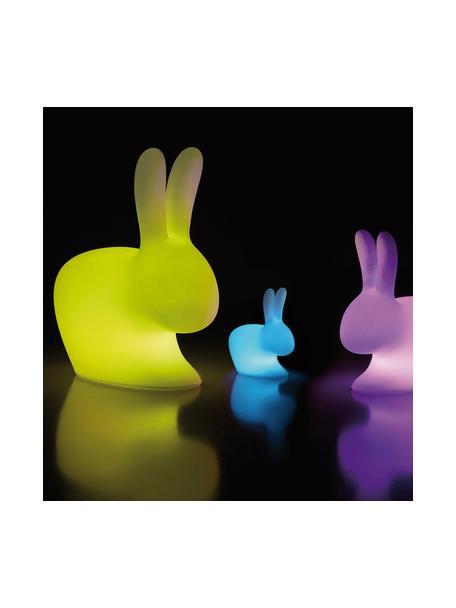 Lámpara de mesa para exterior regulable Rabbit, portátil, Lámpara: plástico (polietileno), Blanco, An 20 x Al 22 cm