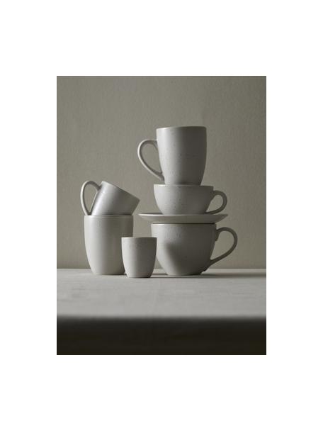 Taza de té de gres Bizz, Gres, Beige claro, Ø 9 x Al 10 cm