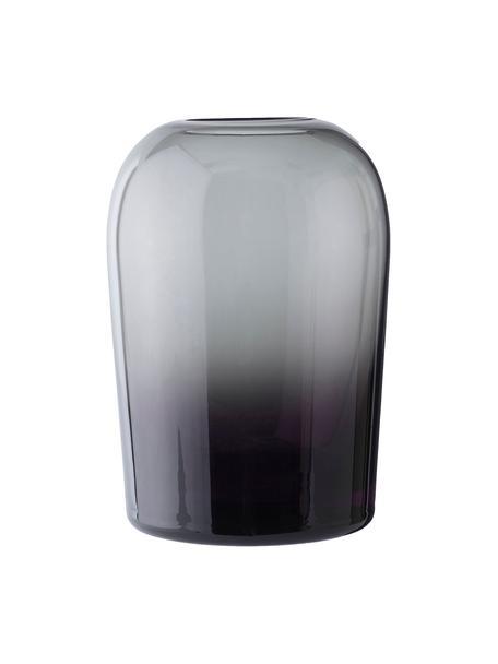 Vaso in vetro soffiato Troll, Vetro, gonfiabile, Grigio cipria, Ø 13 x Alt. 19 cm
