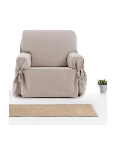 Funda de sillón Levante, 65%algodón, 35%poliéster, Gris verdoso, An 110 x F 110 cm