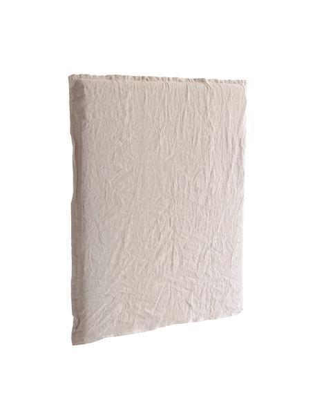 Linnen hoofdeinde Palma, Bekleding: 100% linnen, Frame: hout, Beige, 120 x 122 cm