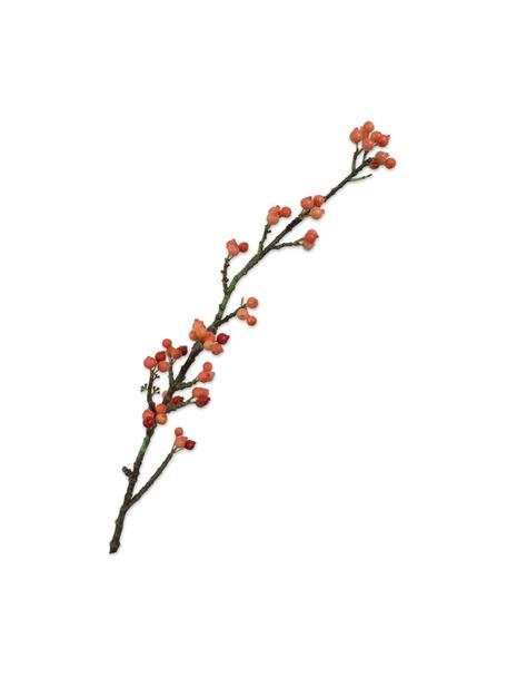 Flores artificiales Beeren, 2uds., Plástico, alambre de metal, Naranja, marrón, L 81 cm
