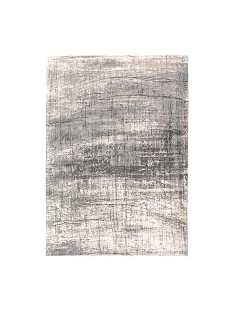 Alfombra Griff, Parte superior: 85%algodón, 15%hilos de, Reverso: mezcla de algodón, recubi, Tonos grises, blanco, An 80 x L 150 cm(Tamaño XS)