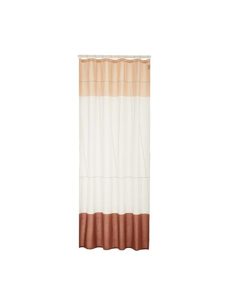 Cortina de baño estrecha Verdi, Ojales: acero inoxidable, niquela, Rojo, blanco, An 150 x L 200 cm