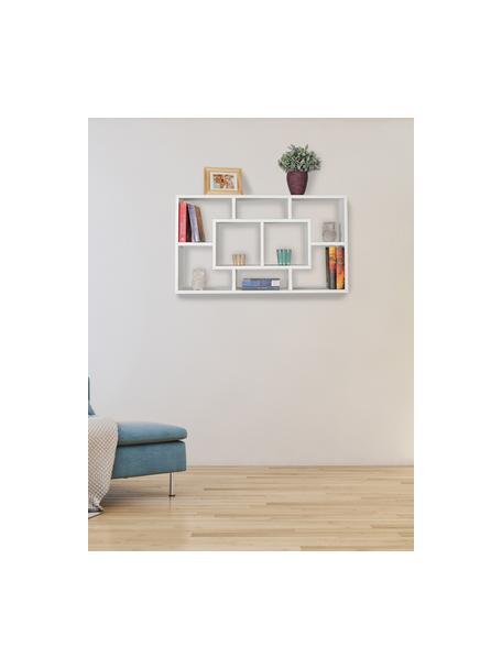 Modernes Wandregal Alex in Weiß Matt, Mitteldichte Holzfaserplatte (MDF), furniert, melaminbeschichtet, Weiß, 85 x 48 cm