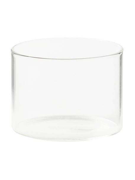 Bicchiere acqua in vetro borosilicato Boro 6 pz, Vetro borosilicato, Trasparente, Ø 8 x Alt. 6 cm