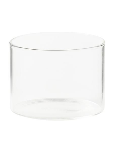 Vasos de vidrio borosilicato Boro, 6uds., Vidrio de borosilicato, Transparente, Ø 8 x Al 6 cm