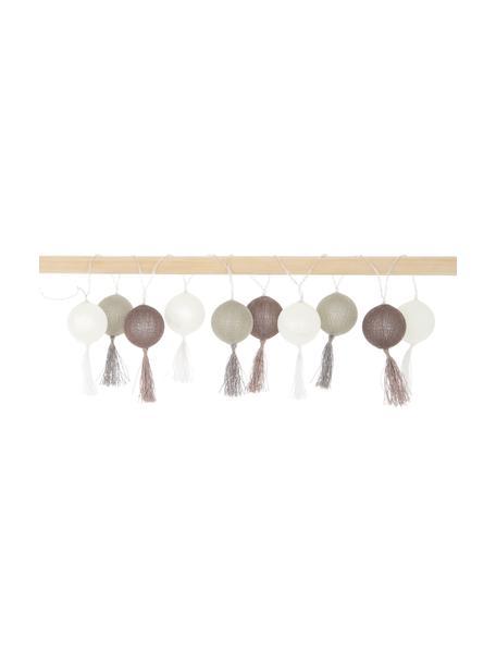 LED lichtslinger Jolly Tassel, 185 cm, 10 lampions, Bruin, beige, L 185 cm