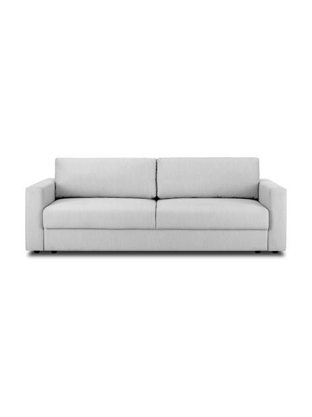 Slaapbank Tasha in lichtgrijs, Bekleding: 100% polyester, Poten: massief grenenhout, multi, Poten: kunststof, Geweven stof grijs, 235 x 100 cm